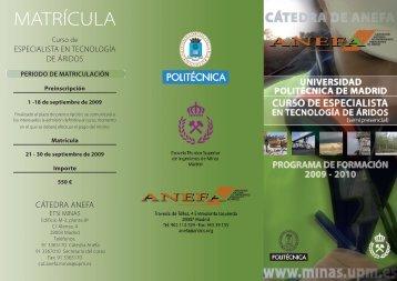 MATRÍCULA - Consejo Superior de Colegios de Ingenieros de Minas