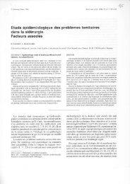 Etude épidémiologique des problèmes lombaires dans la sidérurgie ...