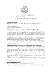 Unidade Clínica III - Iniciação à Endodontia / Introduction to ...