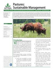 Pastures: Sustainable Management - Alberta Agriculture and Rural ...