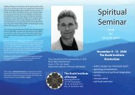 Spiritual Seminar Spiritual Seminar - The Kushi Institute of Europe