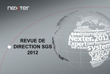 Revue de direction SGS 2012 - DREAL Midi-Pyrénées