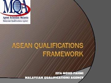 ASEAN QUALIFICATIONS FRAMEWORK - QS-APPLE