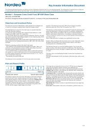 Key Investor Information Document - Nordea Bank Lietuva