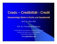 Credo – Credibilität Credibilität - Credit - Christoph Stückelberger