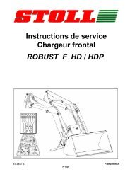ROBUST F HD / HDP Instructions de service Chargeur frontal - Stoll