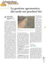 gli effetti di tre diverse gestioni del terreno - Tec.bio