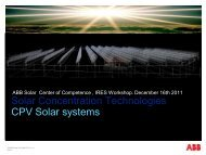 Solar Concentration Technologies CPV Solar systems