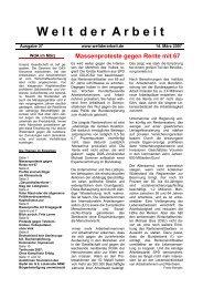 WdA März 2007 - Welt der Arbeit