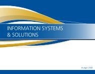 INFORMATION SYSTEMS & SOLUTIONS - Oakville