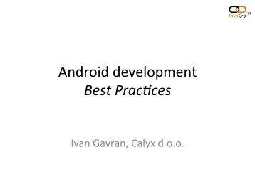 Android development Best Pracfices - HrOUG