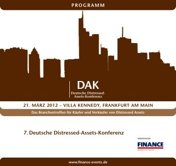 7. Deutsche Distressed-Assets-Konferenz