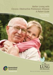 Better Living with Obstructive Pulmonary Disease - Lung Foundation