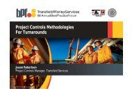 Project Controls Methodologies For Turnarounds - Transfield Worley