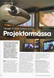 4. Projektormässa 2003 - BigScreen.se