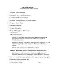 Letter of Intent-1 - Arkansas Department of Higher Education