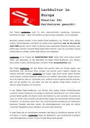 Die Ausschreibung zum Projekt im pdf-Format - Europazug 2006