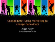 Change4Life: Using marketing to change behaviours - BHF National ...