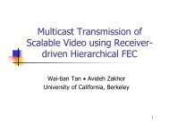 Multicast Transmission of Scalable Video using Receiver- driven ...