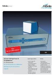 Produktinformation LED Spot 100 - Dr. Hönle AG