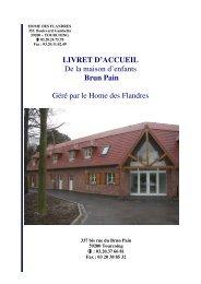 Livret d'accueil Brun-Pain - Le Home des Flandres