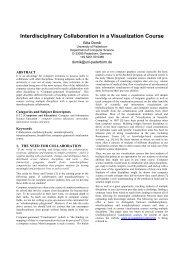 Interdisciplinary Collaboration in a Visualization Course