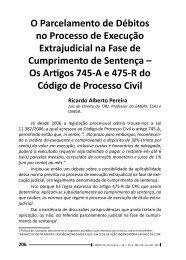 O Parcelamento de Débitos no Processo de Execução ... - Emerj