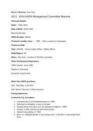 2012 - 2014 HGFA Management Committee Resume - Hang Gliding ...