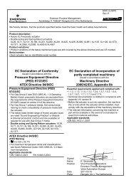EC Declaration of Conformity Pressure Equipment ... - Mecatork