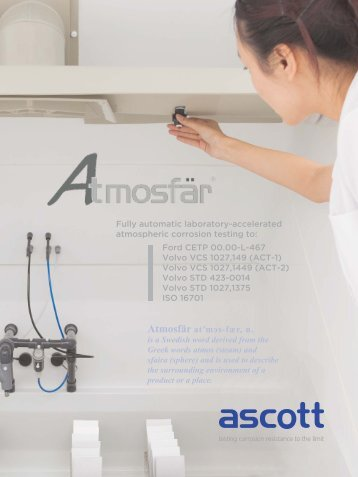 Atmosfär atʹmɘs-fær, n. - Ascott Corrosion Test Chambers