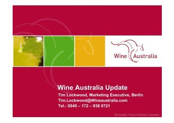 Wine Australia Update