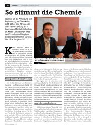 So stimmt die Chemie - DR. KNOELL CONSULT GmbH
