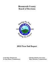 2012 Year End Report - Monmouth County