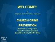 Church Crime Prevention - Santa Rosa County