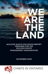 nuclear waste discussion report - Chiefs of Ontario