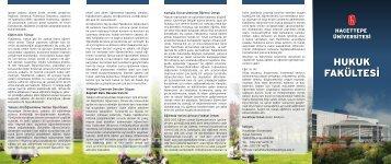 Tanıtım Broşürü - Hacettepe Üniversitesi Hukuk Fakültesi