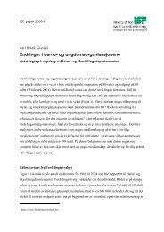 Endringer i barne- og ungdomsorganisasjonene - Institutt for ...