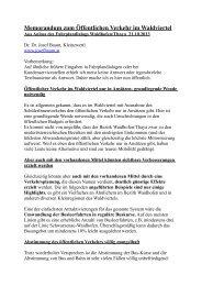 Memorandum zum Öffentlichen Verkehr im ... - Dr.Dr. Josef Baum