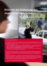 Kriterien zur Sicherung des Jugendmedienschutzes - NDR
