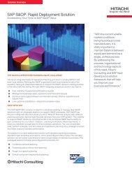 SAP S&OP: Rapid Deployment Solution - Hitachi Consulting