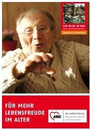 für mehr lebensfreude im alter - AWO Pflege im Rhein-Erft-Kreis