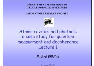 Atoms cavities and photons - Mathematical Methods in Quantum ...