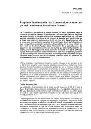 la Commission adopte un paquet de mesures tourné vers l'avenir