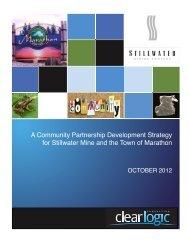 Community Partnership Development Strategy - Marathon Ontario