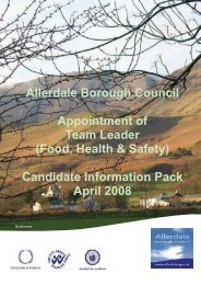 Food, Health & Safety - Allerdale Borough Council