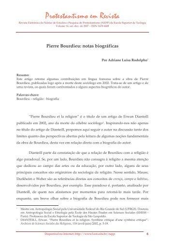 Pierre Bourdieu: notas biográficas