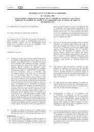 RÈGLEMENT (CE) No 1975/2006 DE LA COMMISSION ... - EUR-Lex