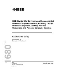 EPEAT Certification Criteria - Design for Sustainability
