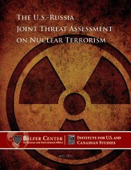 ThE U.S.-RUSSiA JOiNt ThREAt ASSESSMENt ON NUclEAR ...