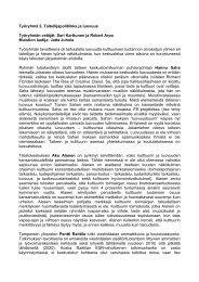 Työryhmä 2. Taiteilijapolitiikka ja luovuus Työryhmän ... - Cupore